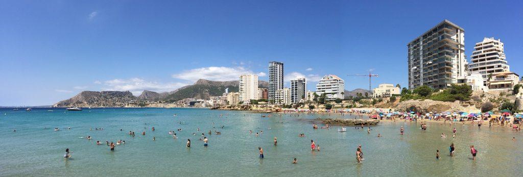 Plaża na wybrzeżu Costa del Sol