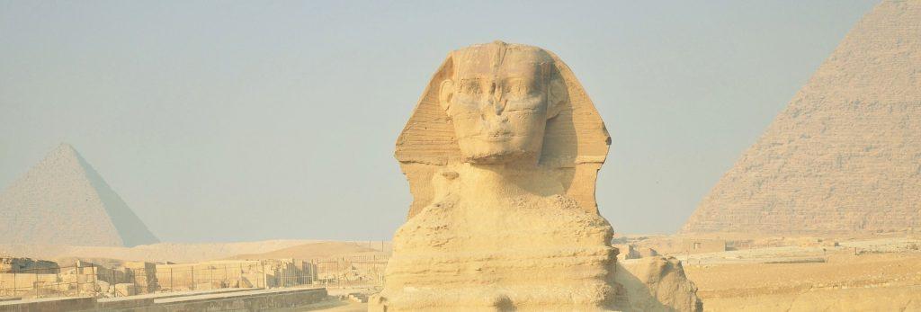 Posąg Sfinksa w Egipcie